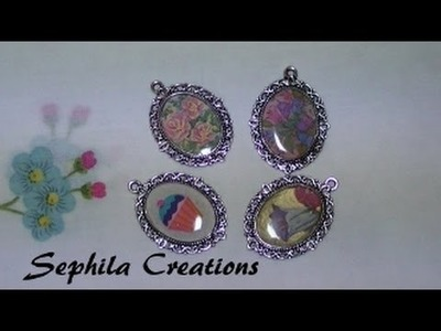 Tutorial: Ciondolo cammeo con immagine e resina (altered art resin jewelry)