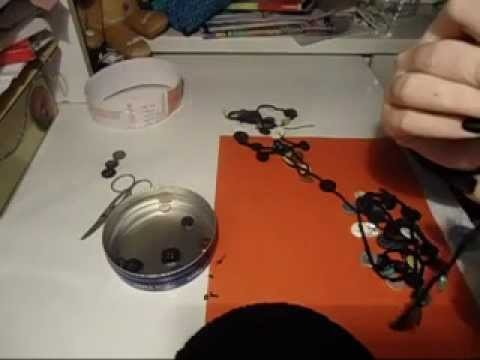 TUTORIAL collana di bottoni a uncinetto - crochet necklace with buttons