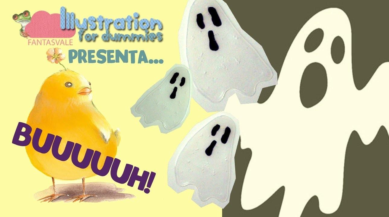 Tutorial come fare Fantasmini con la colla vinilica (Halloween DIY decorations)