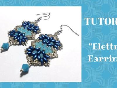 """Tutorial: Come realizzare un paio di orecchini """"Elettra"""" con superduo, cipollotti e rocailles"""