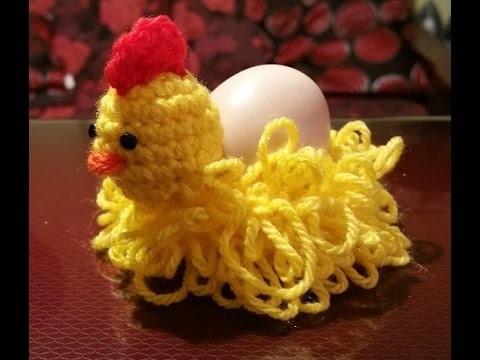 Tutorial gallina all'uncinetto portauovo - Gadget Pasqua - gallina en crochet