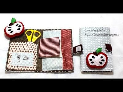 Tutorial:Kit cucito in feltro con puntaspilli. DIY Sewing kit with pin cuscion - Idea regalo maestre