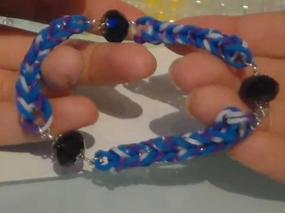 TUTORIAL:Loom bands with beads ◘ loom bands con perline