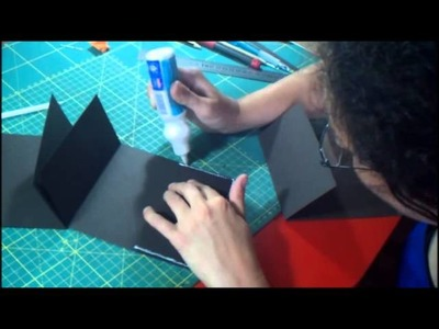 Tutorial mini album flip flap con taschine