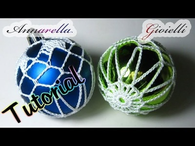 Tutorial palla di Natale ricamata all'uncinetto | How to crochet Christmas ball