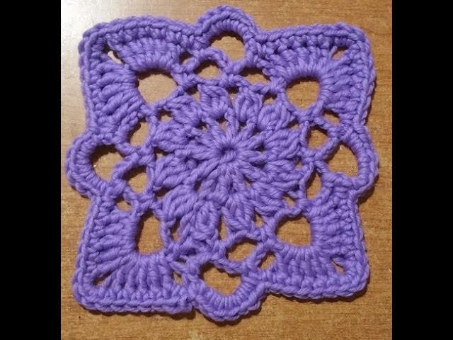 """Tutorial piastrella all'uncinetto """"Stargate"""" -  azulejo crochet - square tile crochet"""