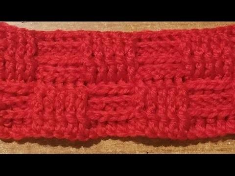 Tutorial punto cestino all'uncinetto - crochet basket stitch -