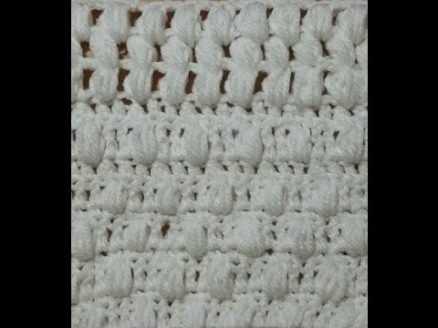 Tutorial punto puff o pop corn all'uncinetto con varianti - puff stitch crochet  -