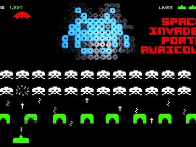 Tutorial: -Space invaders- avvolgicavo per cuffiette hama beads BI