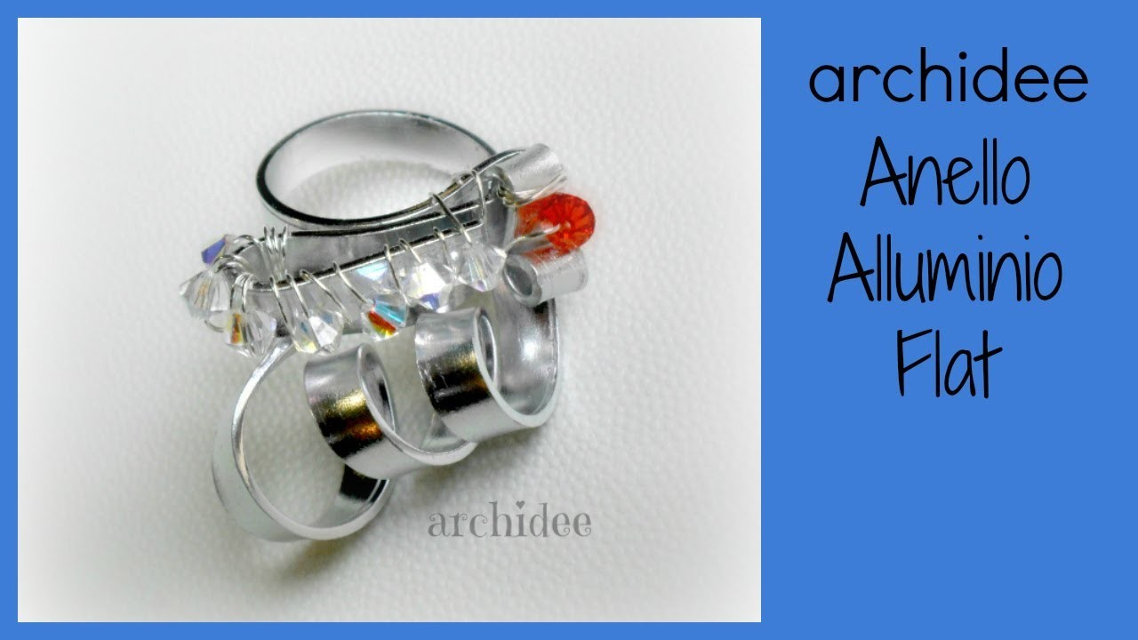 Tutorial | Tecnica Wire | Anello in Alluminio Piatto | Flat Aluminum | DIY Ring