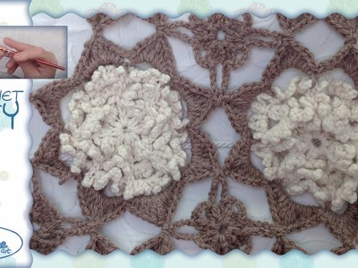 Tutorial Uncinetto ❀ Mattonella Ricciolosa ❀ [crochet block] [ITA - ENG instructions] {1.2}