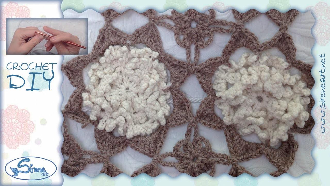 Tutorial Uncinetto ❀ Mattonella Ricciolosa ❀ [crochet block] [ITA - ENG instructions] {1.2}