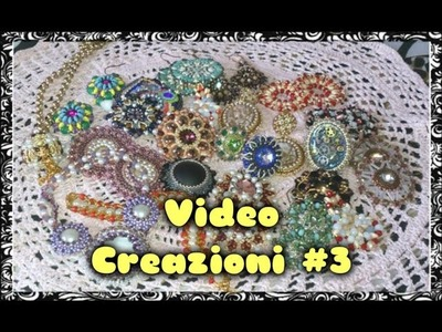 Video Creazioni #3 - Orecchini Ciondoli Anelli - Peyote Embroidery Tessitura Perline Bijoux DIY