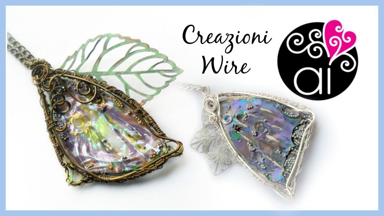 Wire Creations Update | Ali di Fata | Orecchini in Alluminio Martellato