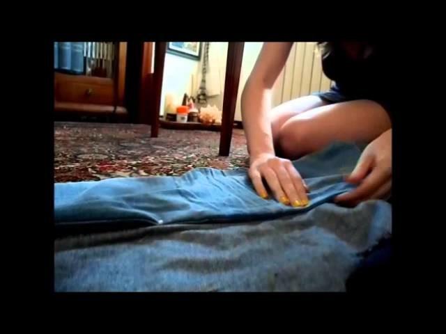 Come stringere un jeans DIY: da jeans troppo grande a jeans su misura!! how to resize old jeans =)