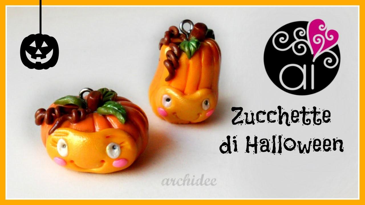 DIY Halloween Pumpkin | Polymer Clay Tutorial | Zucchette di Halloween
