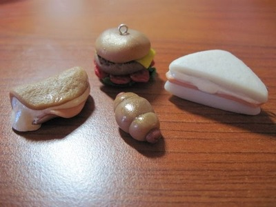 DIY Polymer clay: tutorial sandwiches. panini!