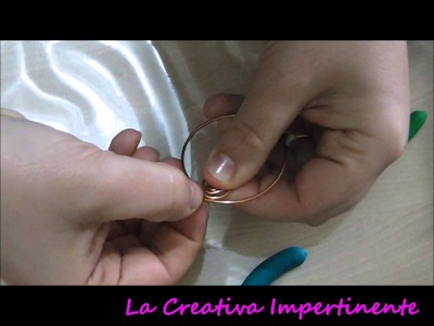 DIY - Tutorial Base Wire Ciondolo Acchiappasogni  | Wire pendant dreamcatcher base