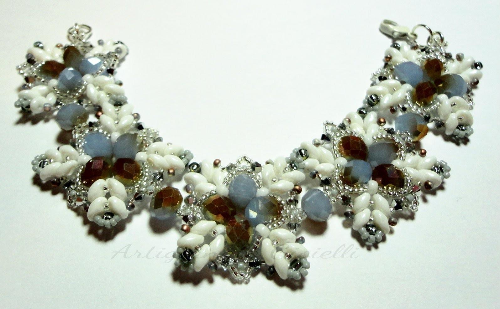 DIY Tutorial come fare un bracciale con superduo perline swarovski cristalli Bracciale Outlook