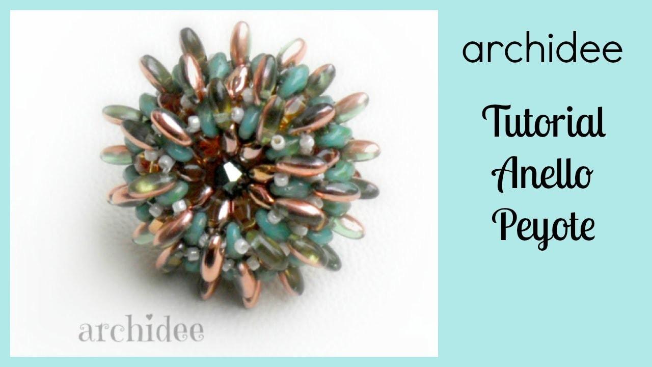 Peyote   Tutorial   Anello Riccio di Rizo o di Magatama + SuperDuo o Twin Beads   DIY Beadwork