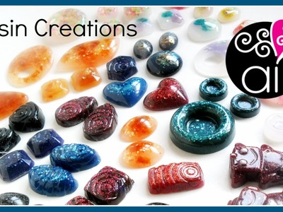 Resin Creations #1 | Prime creazioni in resina | DIY Cabochon & Pendants