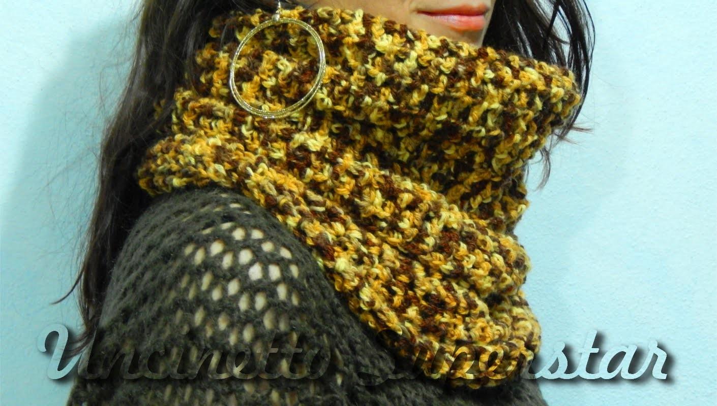 Sciarpa all'uncinetto a cappuccio   Hoodie crochet scarf tutorial