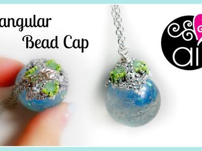 Triangular Bead Cap | DIY Pendant | Cappetta di delica rocailles e cipollotti tecnica herringbone