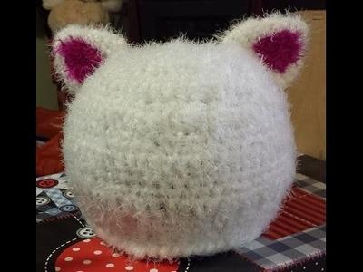 """Tutorial cappello all'uncinetto con le """"orecchie"""" - Crochet Hat - sombrero crochet  con orejas"""