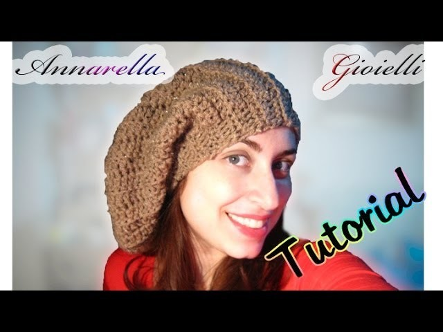 Tutorial cappello lungo uncinetto | How to crochet a slouchy hat