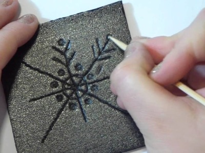 Tutorial decorazioni Natalizie fai da te: stampini di polistirolo - DIY christmas foam stamps