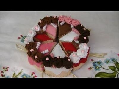 Tutorial: Fettine di torta in pannolenci (felt slices of cake)
