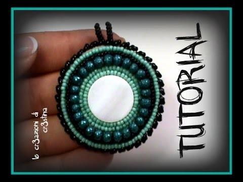 Tutorial Medaglione Etnico - Ciondolo all'embroidery con Twin Beads.Superduo e Perline rocailles