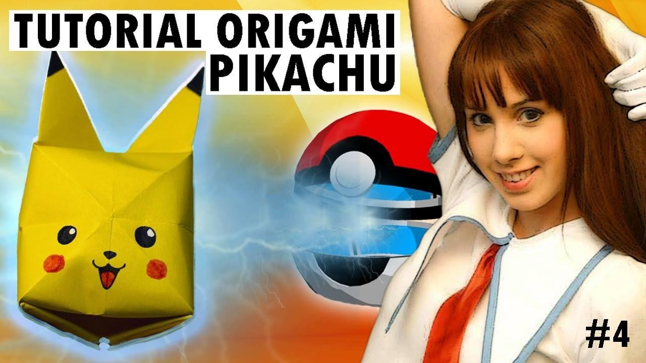 Tutorial Origami - Pikachu - ピカチュウ