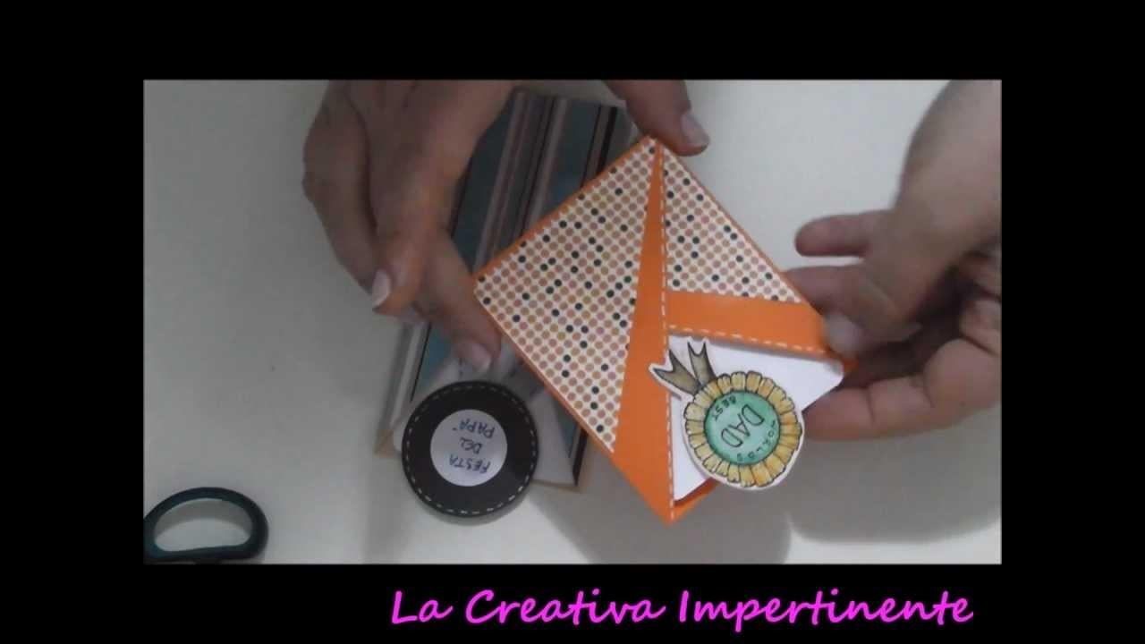 Tutorial Paper Craft: biglietto abbraccio per la festa del papà | DIY father day card scrapbooking