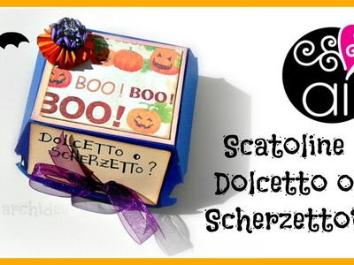 Tutorial | Scrapbooking | Scatolina per dolcetti MacHalloween | DIY Halloween Box