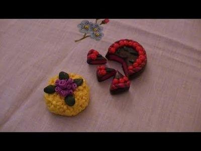 Tutorial: Torta al cioccolato e torta Mimosa usando il Fimo (polymer clay tutorial)