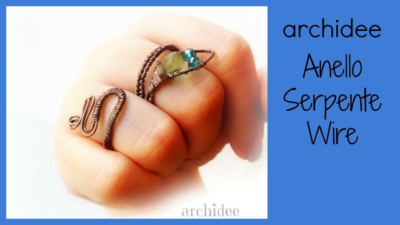 Tutorial | Wire Weaving | Anello Serpente | DIY Snake Ring