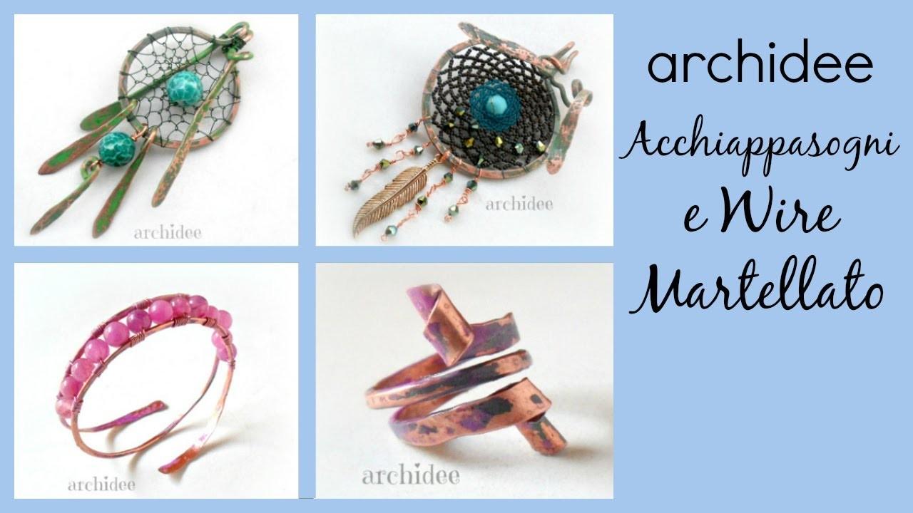 Video Creazioni | Wire Martellato | Allumino Flat | DIY Dreamcatchers | Anelli, bracciali e ciondoli