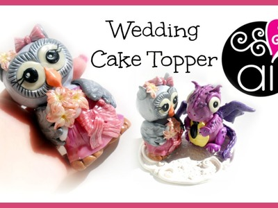 Wedding Cake Topper | Polymer Clay Tutorial | Civetta | DIY Little Cute Owl Bride 1