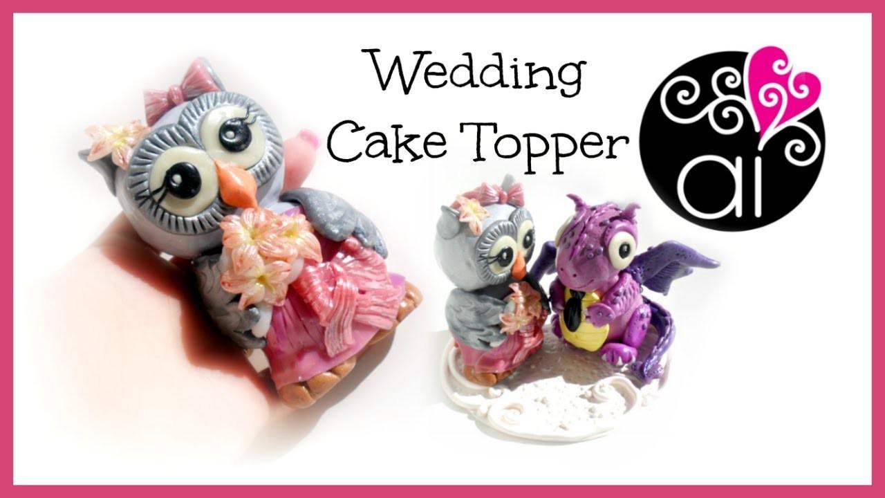 Wedding Cake Topper | Polymer Clay Tutorial | Civetta | DIY Little Cute Owl Bride 1