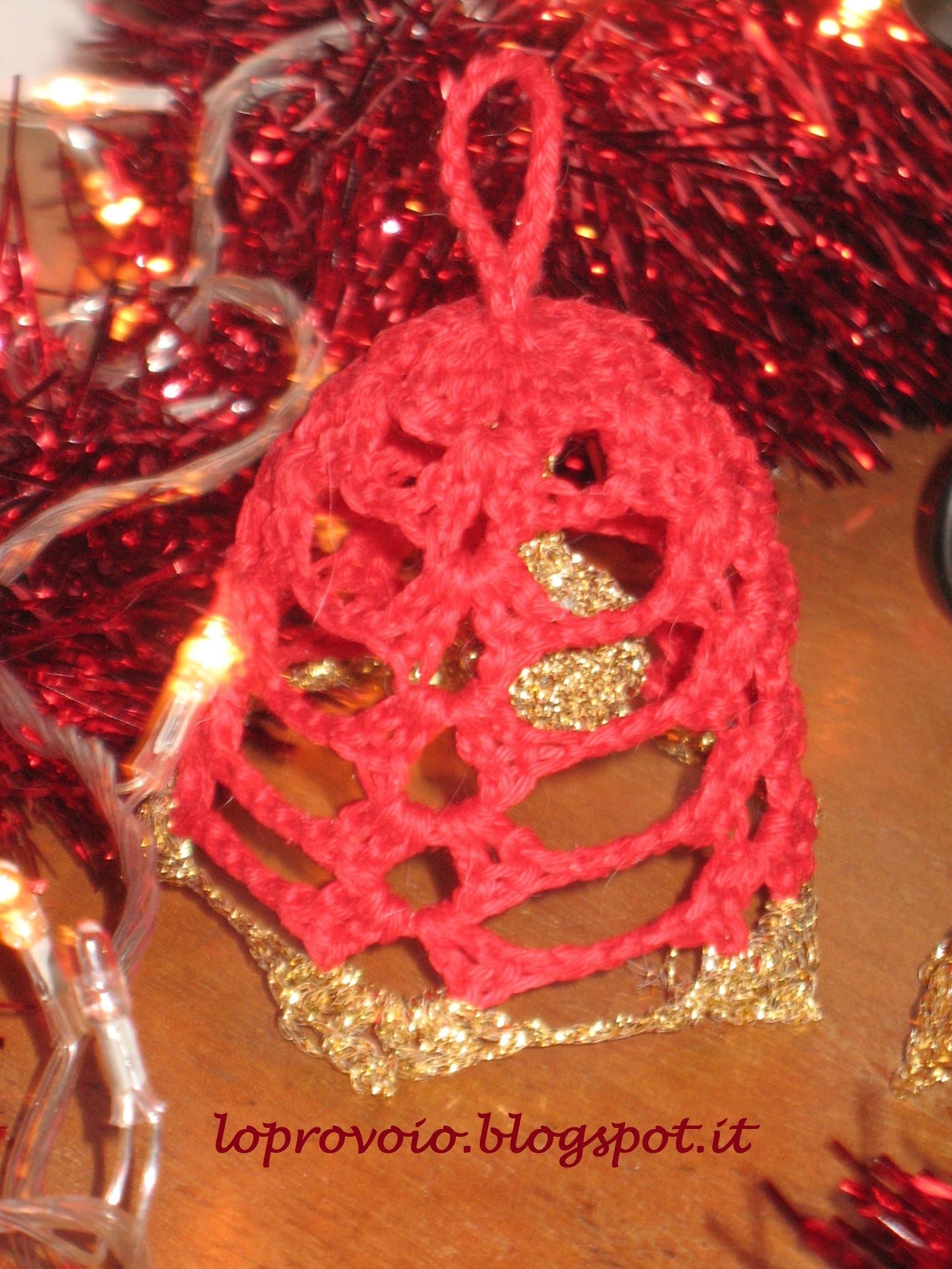 Campanella natalizia all'uncinetto - 2° modello