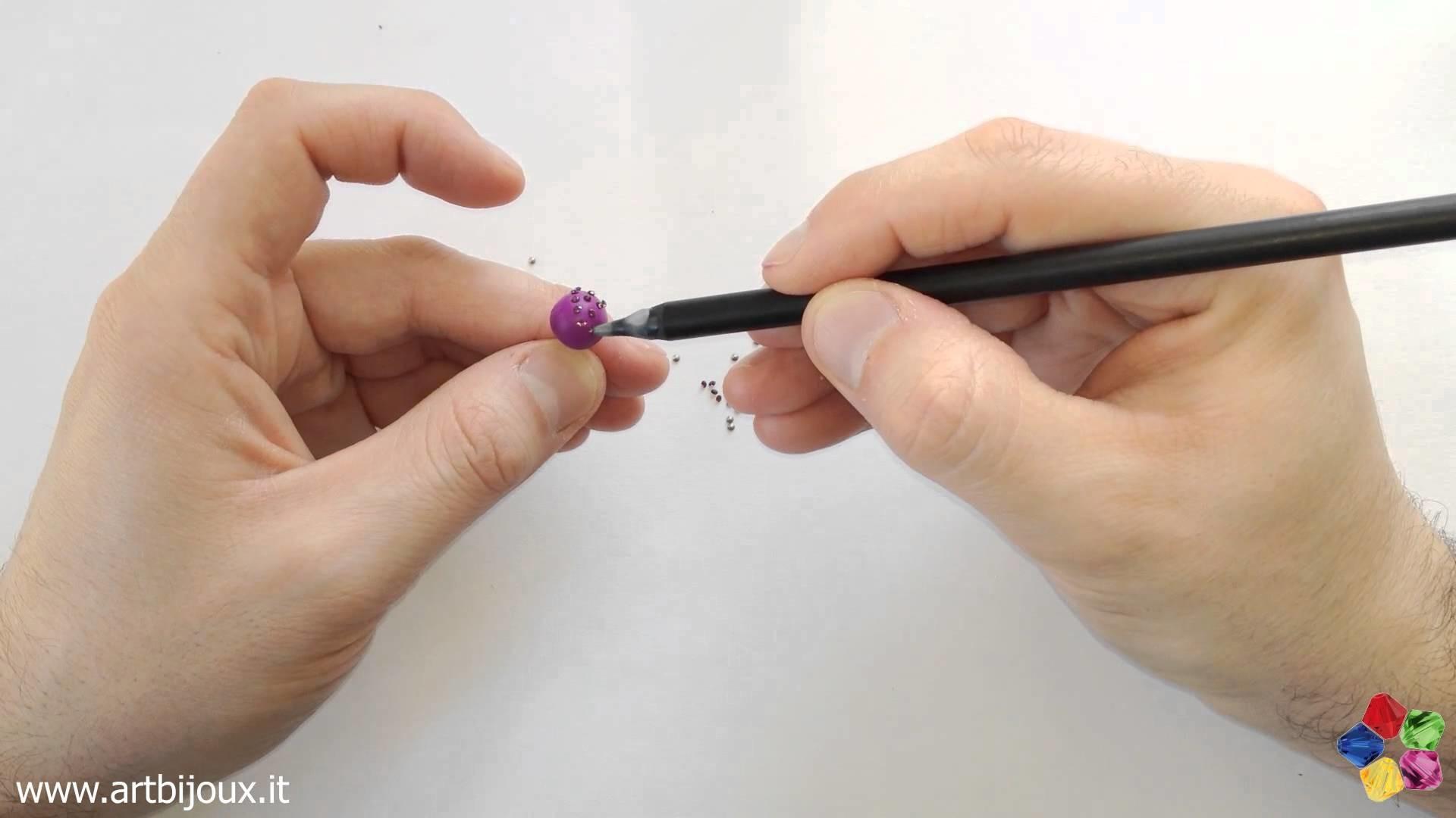 Fimo e Swarovski Chaton - Tutorial Orecchini Fimo Swarovski Ball Art Bijoux