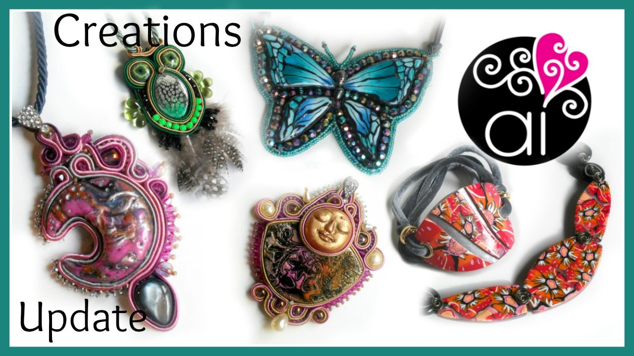 Creations Update | Polymer Clay | Soutache & Embroidery | Progetti per i prossimi Corsi