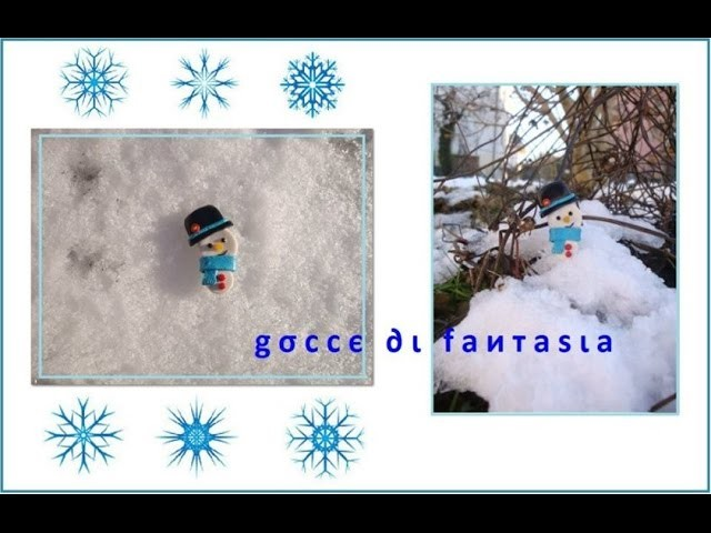 Tutorial: Pupazzo di neve - Fimo. CREATING A POLYMER CLAY SNOWMAN