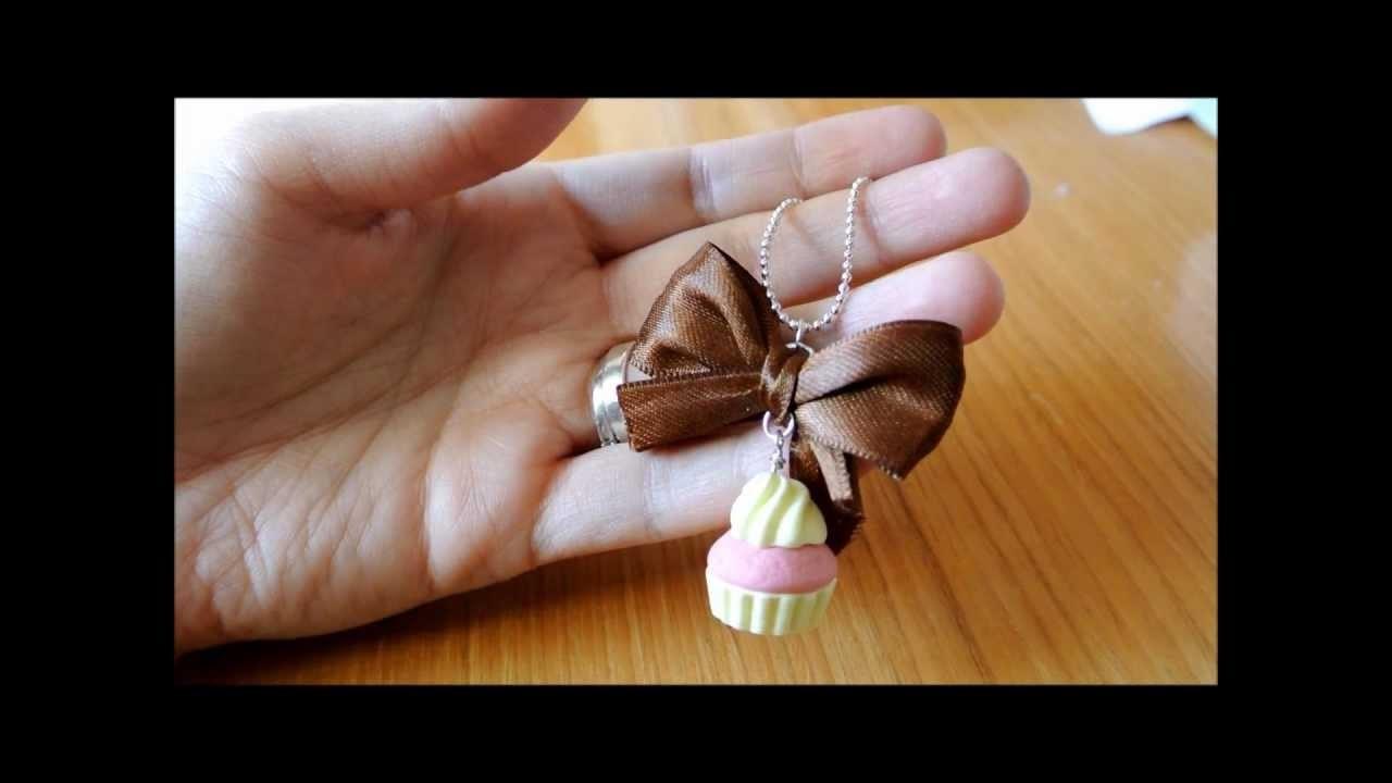 Collana cupcake fimo polymer clay