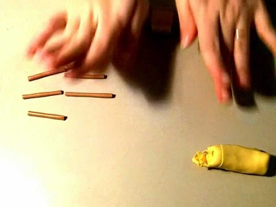 Tutorial: Banana Cane in Fimo.Cernit (Polymer Clays)