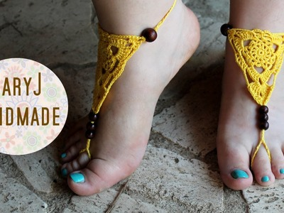 Cavigliera all'uncinetto | Crochet barefoot sandals