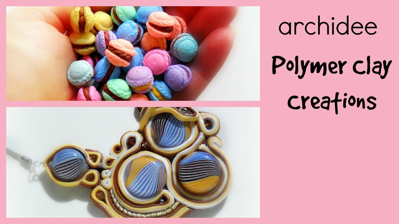 Polymer Clay Creations Update | Macarons | Eraser Clay | Cabochon | Polymer Clay Soutache