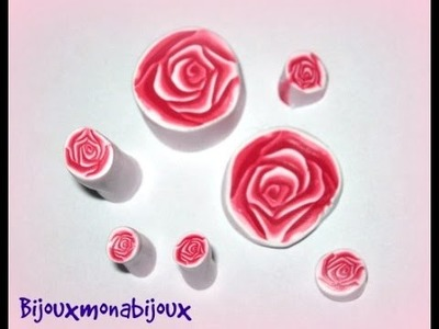 3D rose cane polymer clay tutorial