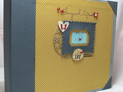 Album Project life Fai da te-Scrapbooking Tutorial-Cartonaggio